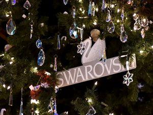 10 000 кристаллов Сваровски на рождественской ели в Милане