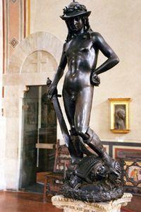 Национальный музей Барджелло - Донателло - Давид (бронза)