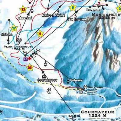 Карта маршрутов Курмайор