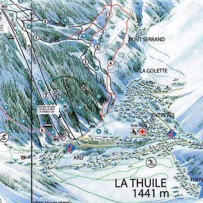 Карта маршрутов Ля Туиль