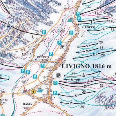 Карта маршрутов Ливиньо