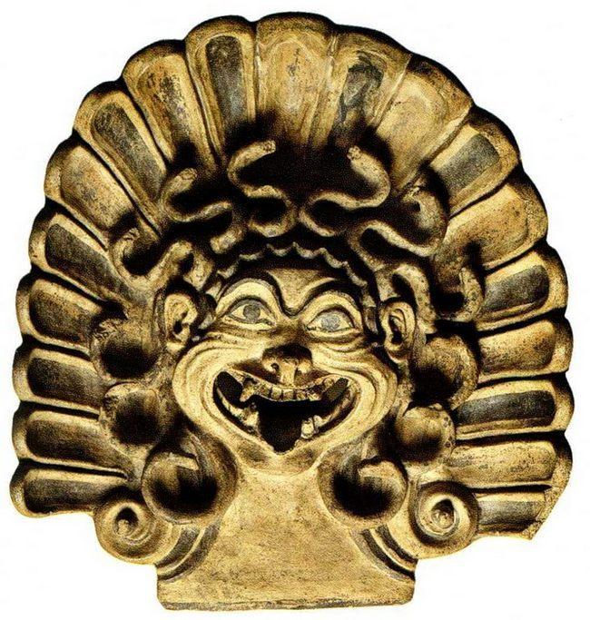 Национальный музей этрусского искусства - Антефикс - маска Горгоны