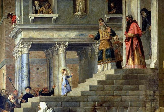 Galereya Akademii Veneciya-Tician-Poyavlenie-Devi-Marii-1534-1538