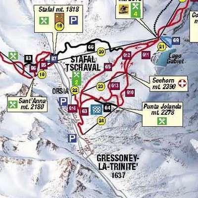 Карта маршрутов Монте Роза
