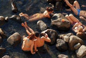 Остров Искья - термальный источник