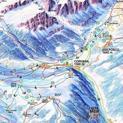 Карта маршрутов Альта Бадиа
