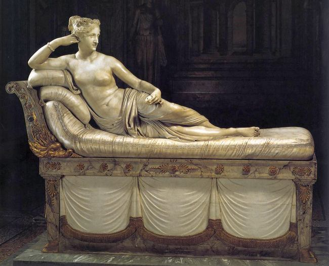 Портрет Паолины Бонапарте в образе Венеры - Антонио Канова - галерея Боргезе