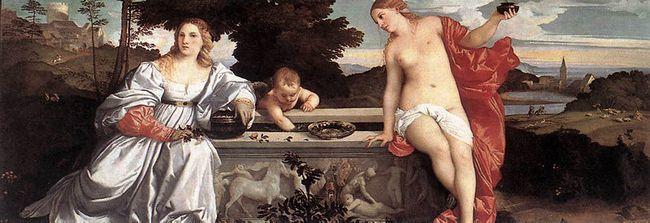 Любовь Земная и Любовь Небесная - Тициан - галерея Боргезе
