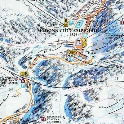 Карта маршрутов Мадонна-ди-Кампильо