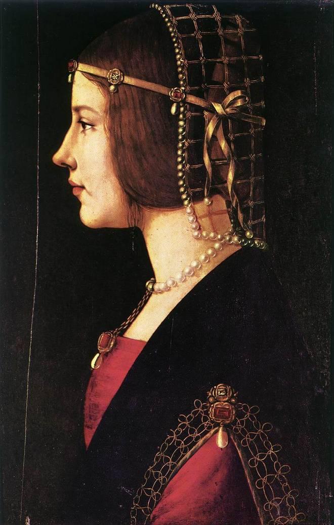 Амброджо де Предис - Портрет женщины - Амброзианская пинакотека
