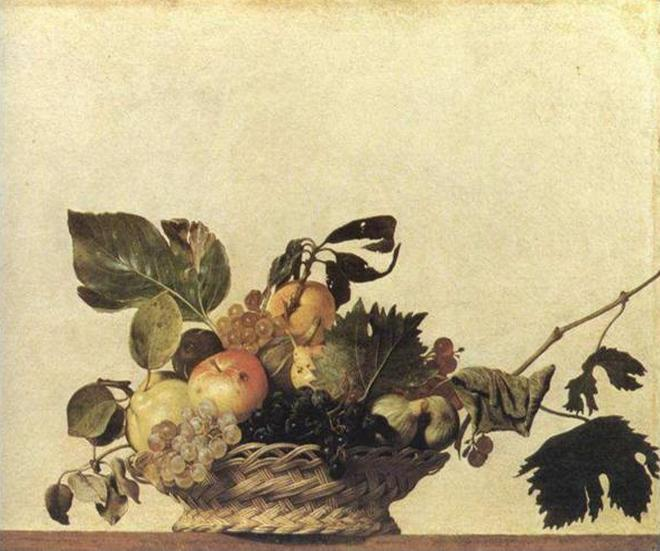 Караваджо - Корзина с фруктами - Амброзианская пинакотека