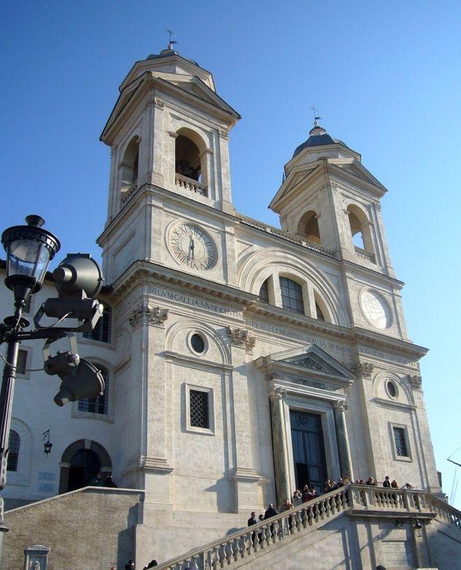 Церковь Тринита-дей-Монти - Площадь Испании