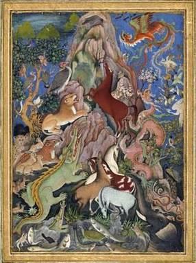 Животные изображенные средневековым мастером