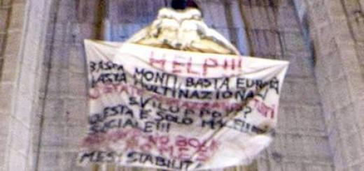 Протестующий на Соборе Святого Петра в Ватикане