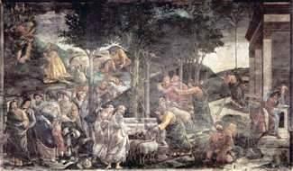 Избиение младенцев в Египте и призвание Моисея – Боттичелли