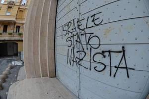 Антисемитские надписи на синагоге