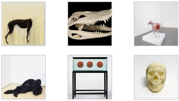 Некоторые экпонаты из коллекции Хэрста