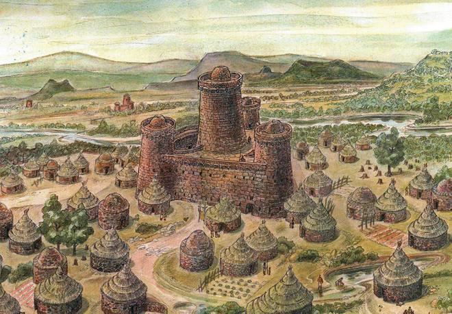 Эскиз нурагического поселения