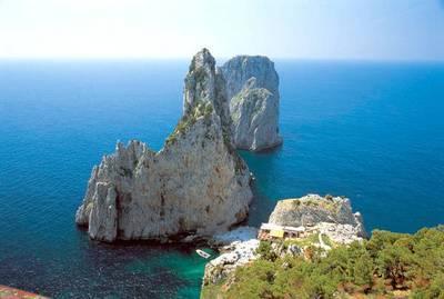 Вид на море с острова Капри