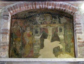 Одна из фресок в Доме Джульетты