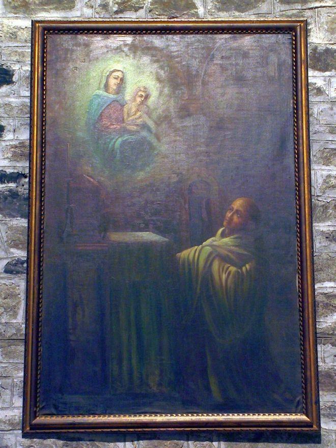 Одно из полотен - Явление Мадонны с ребенком святому Бернардо