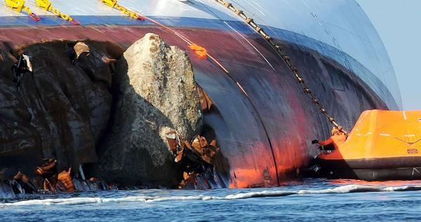 Скала, потопившая Costa Concordia
