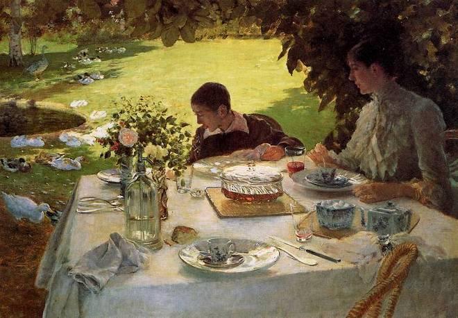 Джузеппе Де Ниттис - Завтрак в саду