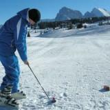 Снежный гольф в Alpe di Siusi