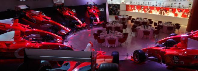Частная вечеринка в зале Славы музея Феррари