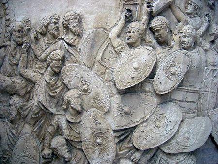 Битва с даками - барельеф на колонне Траяна