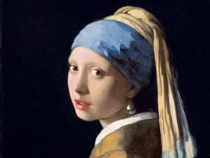 """Картина """"Девушка с жемчужной серёжкой"""" Вермеера на выставке в Болонье"""