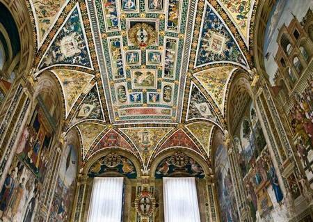 Роспись на потолке кафедрального собора Сиены