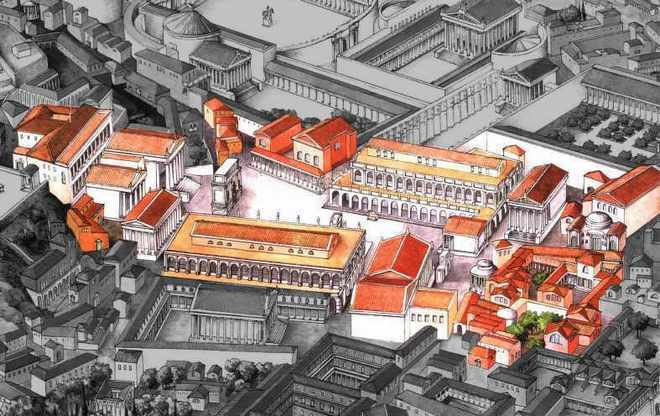 Макет Римского Форума