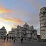 Пизанская башня и площадь чудес - вечерняя панорама
