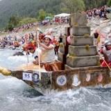 В Турине прошли соревнования по гребле на картонных лодках