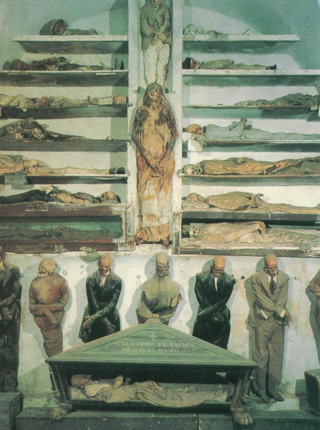 Коридор мужчин - Катакомбы капуцинов в Палермо