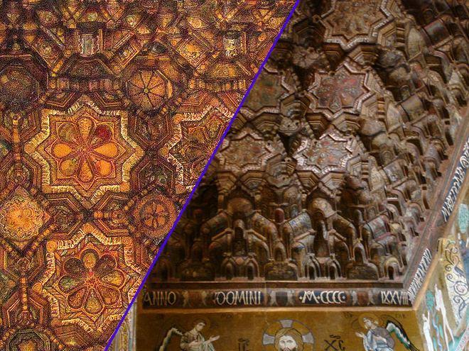 Резной потолок Палатинской капеллы